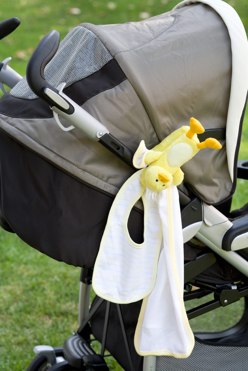 A great way to keep items you need a lot (like bibs and burp cloths) close by.